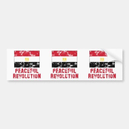 Vintage pacífico de la revolución pegatina para auto