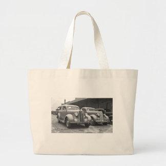 Vintage Packards Large Tote Bag