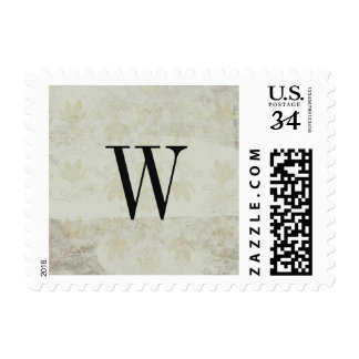 Vintage Page Monogrammed Postage Stamp