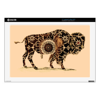 Vintage Painted Bison Laptop Decals