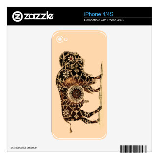 Vintage Painted Bison Skin For iPhone 4