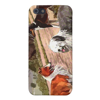 Vintage Painted Collies iPhone Case Cover For iPhone 5/5S