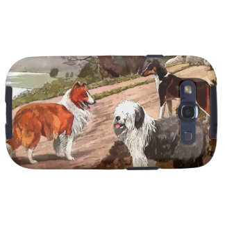 Vintage painted Collies Samsung Galaxy S Case