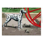 Vintage Painted Dalmatian Thank You Note Card