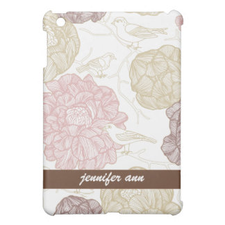Vintage Painted Flowers and Birds Case For The iPad Mini