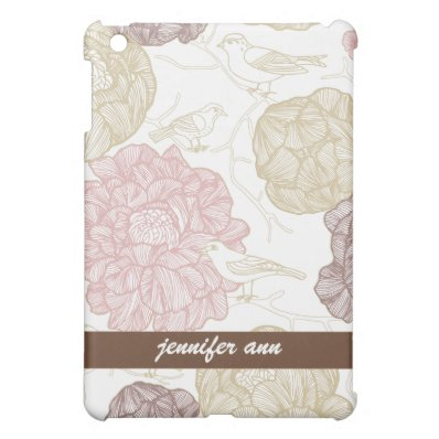 Vintage Painted Flowers and Birds iPad Mini Cases