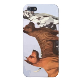 Vintage Painted Great Danes iPhone Case iPhone 5/5S Cases