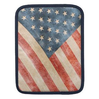 Vintage Painted Look American Flag iPad Sleeves