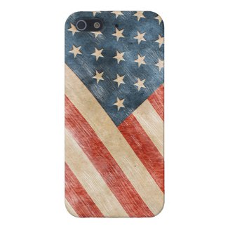 Vintage Painted Look American Flag iPhone 5 Cases
