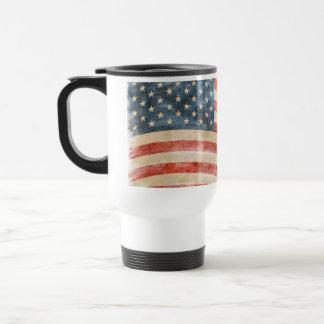 Vintage Painted Look American Flag Mug