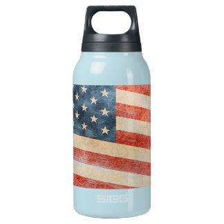 Vintage Painted Look American Flag Thermos Bottle