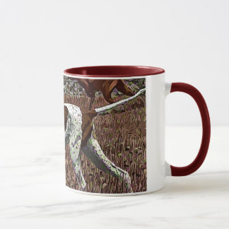 Vintage Painted Pointer Ceramic Mug