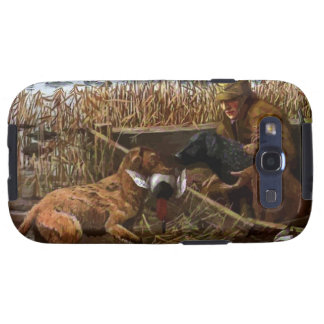 Vintage painted retrievers Samsung Galaxy S Case