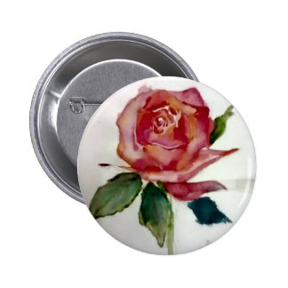 vintage painted rose button