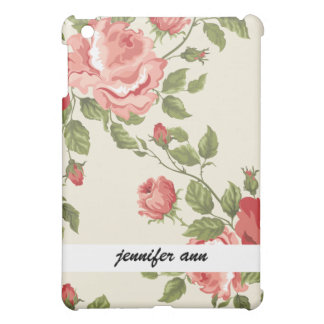 Vintage Painted Rose Vines Case For The iPad Mini