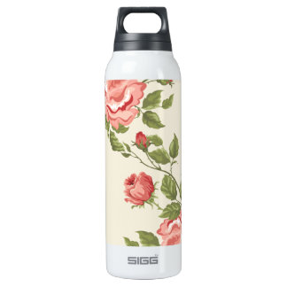 Vintage Painted Rose Vines Thermos Bottle