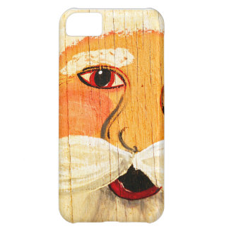 Vintage Painted Santa Clause Face Weathered iPhone 5C Cover