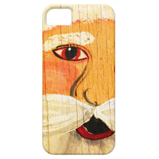 Vintage Painted Santa Clause Face Weathered iPhone SE/5/5s Case