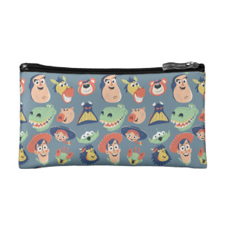Vintage Painted Toy Story Characters Cosmetic Bag