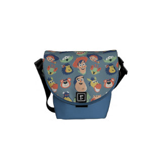 Vintage Painted Toy Story Characters Messenger Bag