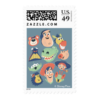 Vintage Painted Toy Story Characters Postage