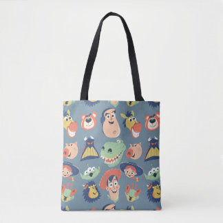 Vintage Painted Toy Story Characters Tote Bag