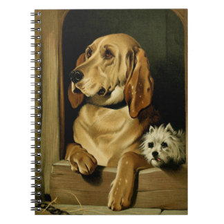 Vintage Painting: Dignity and Impudence Spiral Notebook