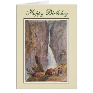 Vintage painting greeting card