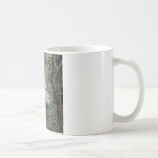 Vintage Painting Of A Bird With Flowers Coffee Mug