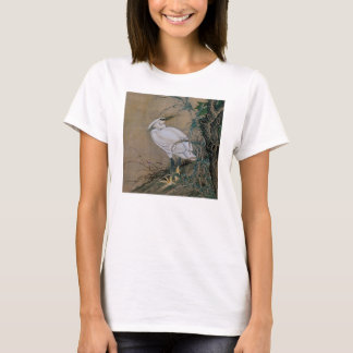 Vintage Painting Of A Bird With Flowers T-Shirt
