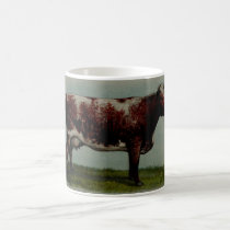 Vintage painting of a Shorthorn Cow Coffee Mug