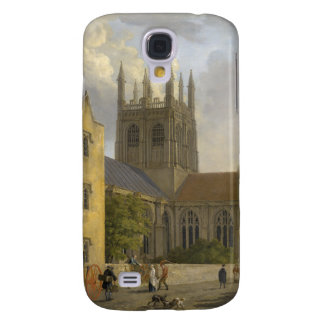 Vintage Painting of Merton College Oxford England Samsung Galaxy S4 Covers