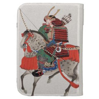 Vintage Painting of Samurai on Horseback Kindle 3G Cases