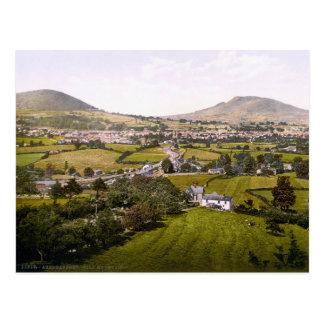 Vintage País de Gales, montaña santa de Tarjetas Postales