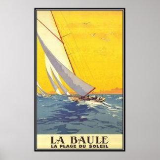 Vintage países del Loira La Baule Francia - Poster