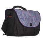 Vintage Paisley Baby Blue Laptop Bag