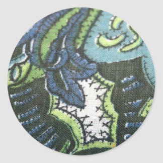 Vintage Paisley Design Fabric Stickers