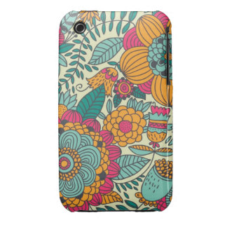 Vintage Paisley Flowers iPhone 3 Case-Mate Case