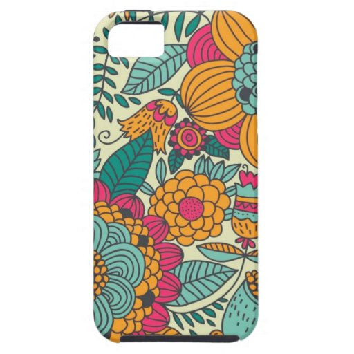 Vintage Paisley Flowers iPhone 5 Cases