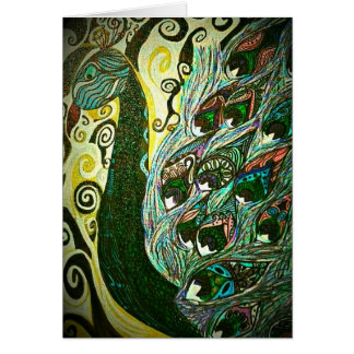 Vintage paisley peacock blank notecards stationery note card