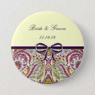 Vintage Paisley Pinback Button