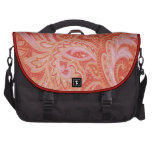 Vintage Paisley Pink Red Laptop Bag