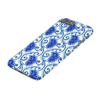 Vintage paisley porcelain pattern. Blue and white Barely There iPhone 6 Case