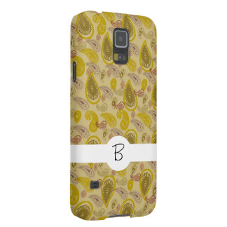 Vintage Paisley Print Gold Brown Case For Galaxy S5