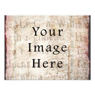 Vintage Pale Brown Tan Script Text Parchment Paper Photograph