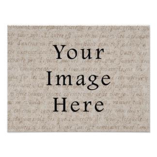 Vintage Pale Brown Tan Script Text Parchment Paper Art Photo