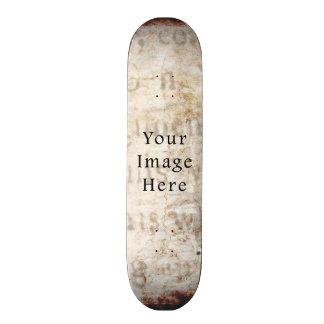 Vintage Pale Brown Tan Script Text Parchment Paper Custom Skateboard