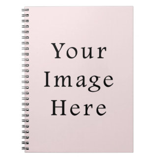 Vintage Pale Pink Color Trend Blank Template Notebook