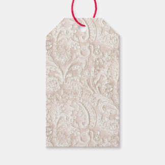 Vintage Pale Pink Lace Pack Of Gift Tags