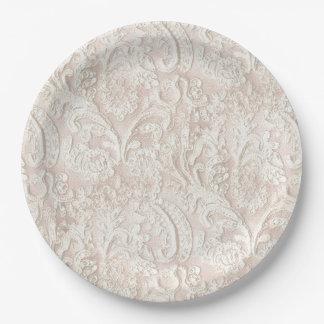 Vintage Pale Pink Lace Paper Plate
